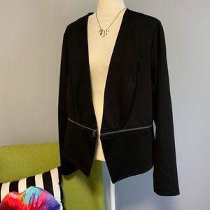 Torrid black modern zipper blazer